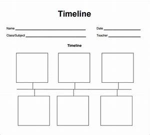 blank timeline template 6 free download for pdf With timline template
