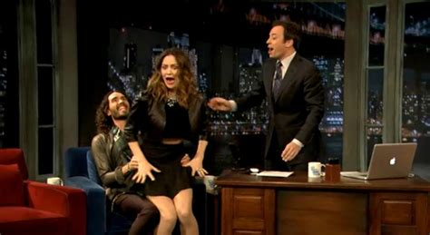russell brand jimmy fallon russell brand comes on to married katherine mcphee ny
