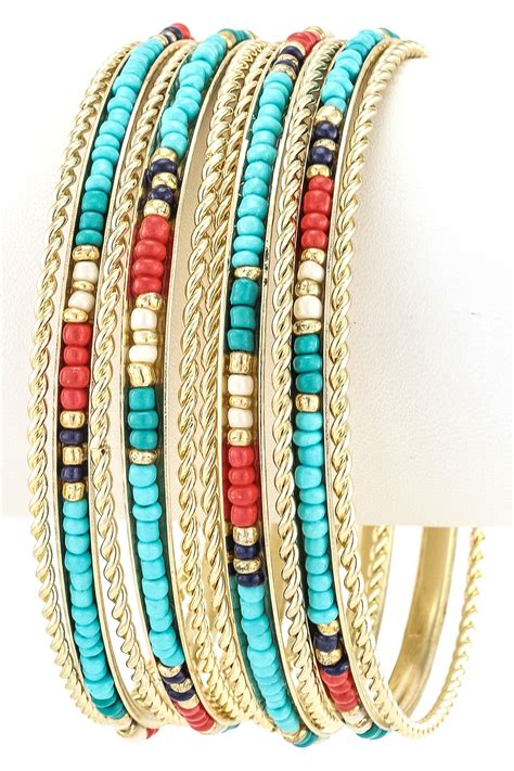 Seed Bead Bangle Bracelet Set  Bracelets. Beautiful Antique Engagement Rings. Model Gold Necklace. Promise Rings. Crown Wedding Rings