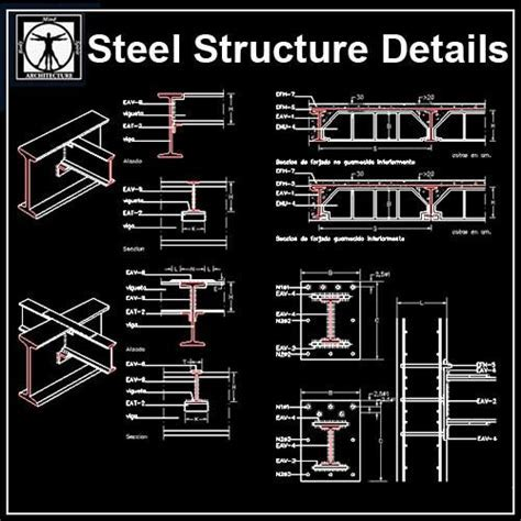 Free Steel Structure Details 5 ? CAD Design   Free CAD