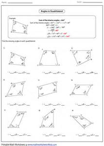 Complementary And Supplementary Angles Worksheet Pdf Quadrilateral Worksheets