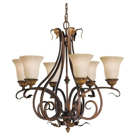 6 Light Chandelier With Shades by Feiss Sonoma Valley 6 Light Aged Tortoise Shell Chandelier
