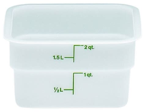 maximize the commercial kitchen faucets cambro 2sfsp poly white square storage container