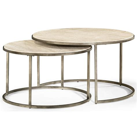 Get 44 round wood dining table plans. Hammary Modern Basics Round Cocktail Table with Nesting ...