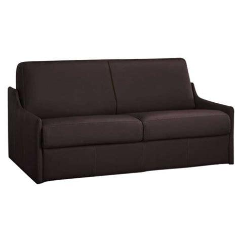 canapé lit gain de place en cuir de vachette nouveau