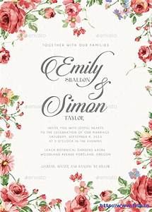 100 best wedding invitation card print templates 2015 With floral wedding invitations photoshop