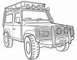 Rover Coloring Land 4x4 Pages Road Transportation Terrain Colorings Drawing Coloriage Printable Imprimer Drawings Print Getdrawings Cartoon Getcolorings Runner Results sketch template
