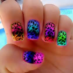 Colorful nail designs tumblr step by