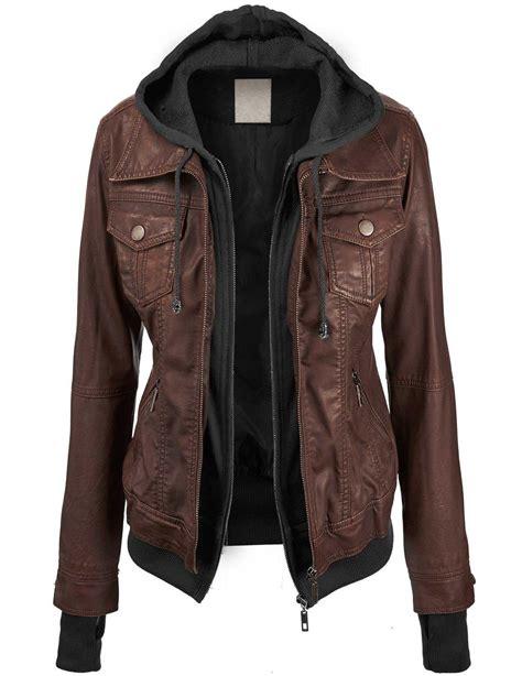 hoodie zipper jaket hoodie size m ll womens hooded faux leather jacket from jackets