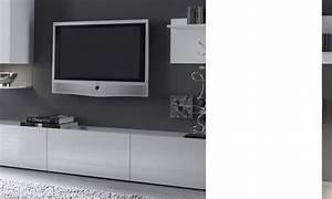 Banc Tv Design : meuble tele banc tv design laque blanc madere ~ Teatrodelosmanantiales.com Idées de Décoration