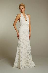 ivory lace modified mermaid wedding dress with embellished With lace halter neck wedding dress