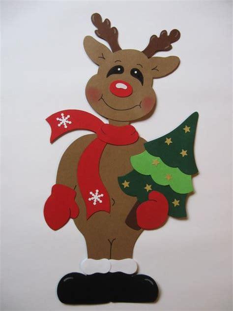 Weihnachtsdeko Fenster Baum by Fensterbild Elch Mit Tannenbaum Tonkarton Conchila