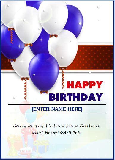 happy birthday wishing card word excel templates