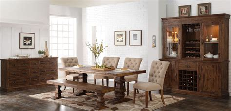 normandy vintage distressed dining room from new classic coleman furniture