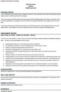 Nursing Home Cv Exle by Healthcare Assistant Cv Exle Forums Learnist Org