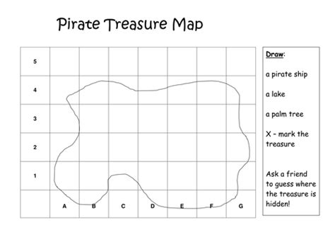 Treasure Hunt Template Tes by Pirate Treasure Map By Etaalpha Teaching Resources Tes