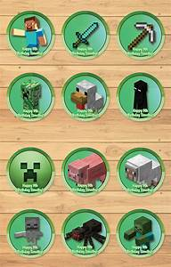 Personalized Minecraft Cupcake Toppers Green | MonksTavern