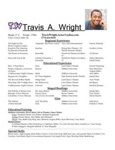 acting resume special skills exles how to make an acting resume for beginners sles of resumes