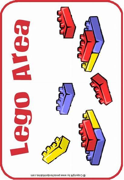 Preschoolprintables Signs Center Sign Labels Lego Preschool