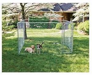 chain link dog kennel crates and kennels runs 10x10 big With outside dog pens for large dogs