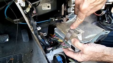 drain pan prizm corolla computer removal