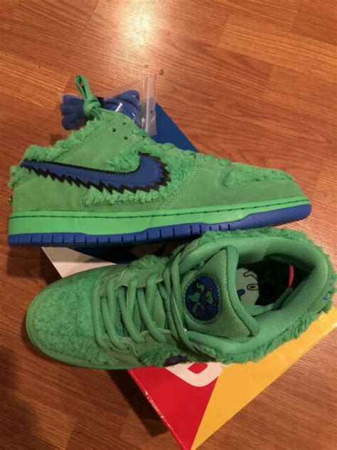 nike sb dunk pro grateful dead bear green spark qs