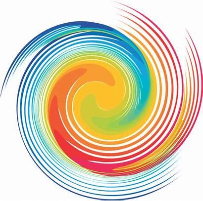 Spiral Swirl Rainbow Dye Clipart Tie Background