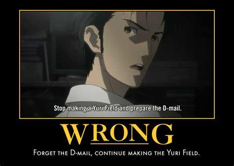 Steins Gate Memes - demotivational poster image 742673 zerochan anime image board