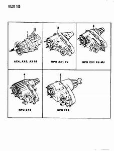 1991 Jeep Wrangler Manual Transmission And Transfer Case