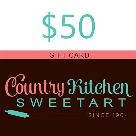 country kitchen sweetart 50 country kitchen sweetart gift card ck card50 6150
