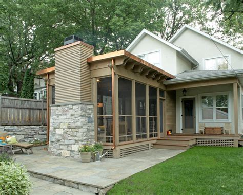 three season porch striking three season porch traditional porch