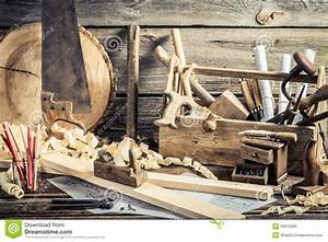 Antique Carpentry Workshop Stock Photo - Image: 50873284