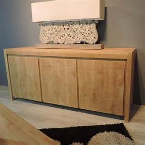 buffet de salon en bois de teck massif serenite With salon de jardin contemporain 13 meuble tv teck meuble tv bois naturel rectangle zen