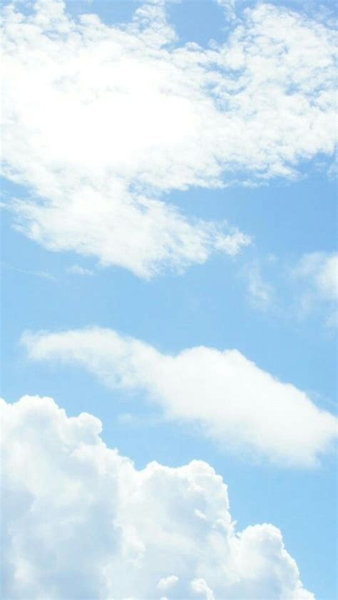 wallpaper aesthetic blue clouds