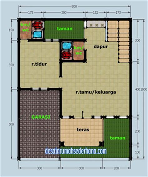 gambar desain rumah  lantai hook kpr type