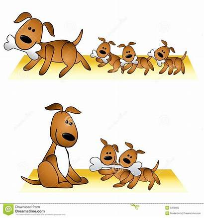 Dog Puppies Clipart Mother Dogs Puppy Illustration