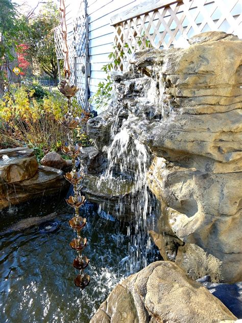 vertical backyard waterfalls garden fake rock waterfalls