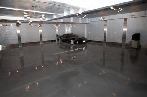 Garage Designs Modern Shiny Silver Underground Garage