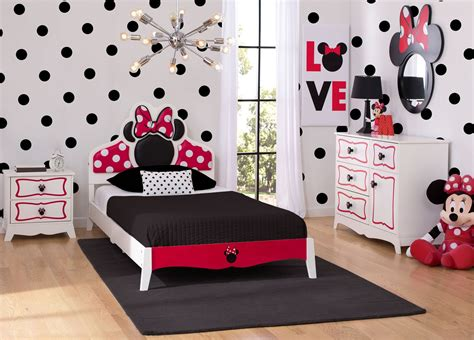 minnie mouse wooden twin bedroom collection delta children