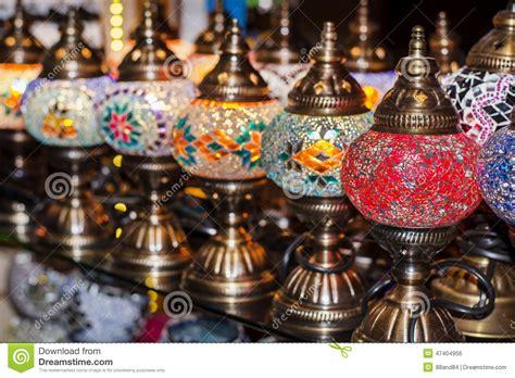 turkish ls for sale in the grand bazaar stock photo