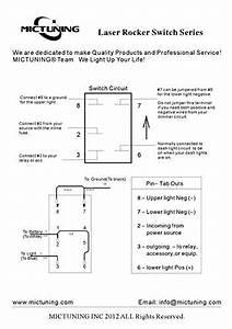 Mictuning Laser Etched Rocker Switch  Led Light Bar Blue  U2013 Auto Parted