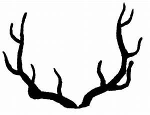 Vintage Clip Art - Deer with Antlers Silhouette - The ...