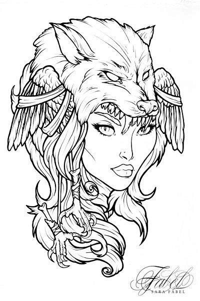 Drawing by Sara Fabel.   Viking drawings, Norse tattoo