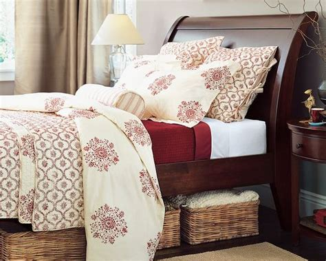 Red And Cream Duvet, Quilt & Shams