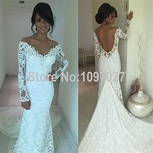 sexy v neck white french wedding lace dress off shoulder With white off the shoulder wedding dress