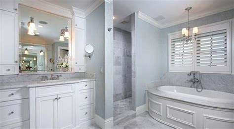 Luxury Light Blue And Gray Bathroom-jose Style And Design