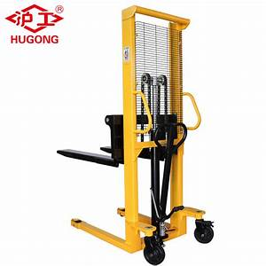 China Hand Hydraulic Fork Lift Type Manual Pallet Stacker