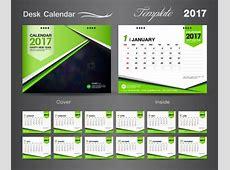 Desk calendar 2017 vectors template 03 Vector Calendar