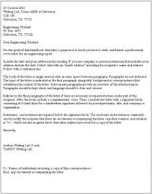 Standard Cover Letter Sle The Format Of A Friendly Letter Best Template Collection