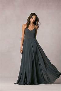 Jenny yoo bridesmaid dresses chic stylish weddings for Charcoal dresses for weddings